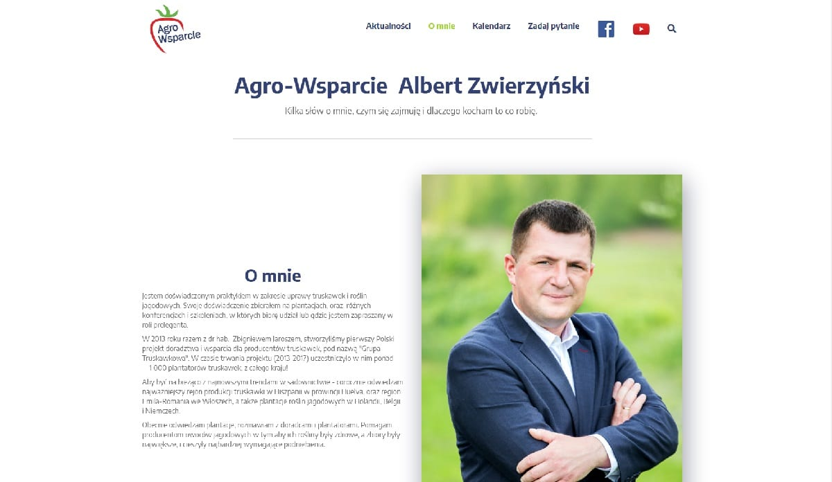 przykład strony internetowej dla doradcy