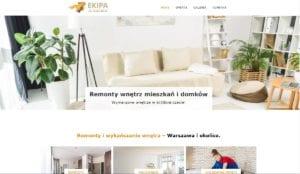 przykład strony internetowej dla firmy remontowej