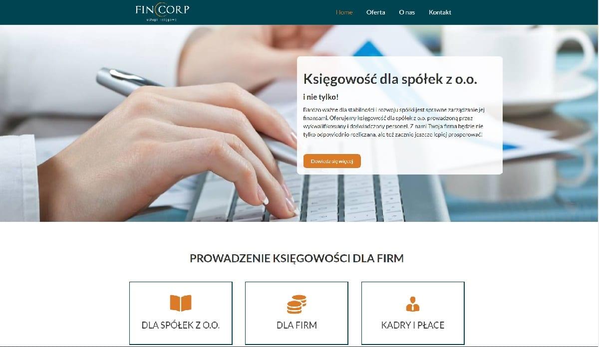 przykład strony internetowej dla biura rachunkowego