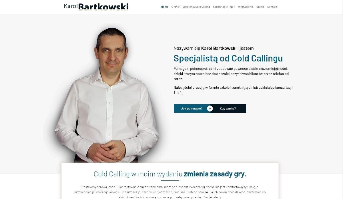 przykład strony internetowej dla marki osobistej