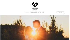 przykład strony internetowej dla fotografa ślubnego