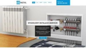 przykład strony internetowej dla usług instalatorskich