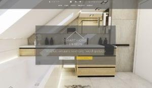 przykład strony internetowej dla biura projektowego