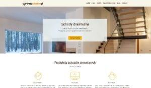 przykład strony internetowej dla producenta schodów drewnianych