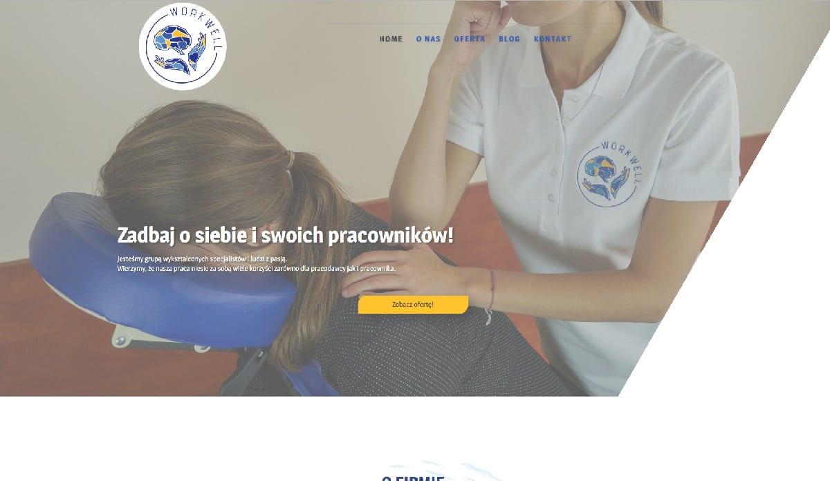 przykład strony internetowej dla masażysty
